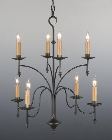 Metal Eight Light Two Tiered Chandelier LCHSC-9A