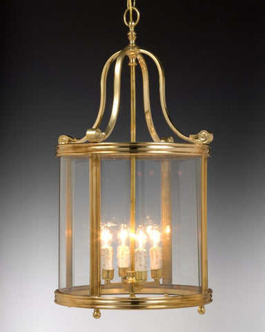 Brass Bell Shape Topped Round Lantern in Oxid Gold LL-9a