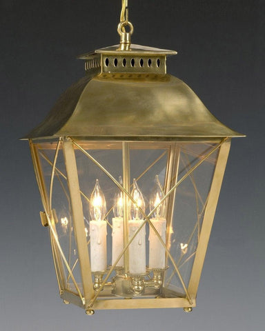Brass And Glass Criss Cross Lantern LL-20