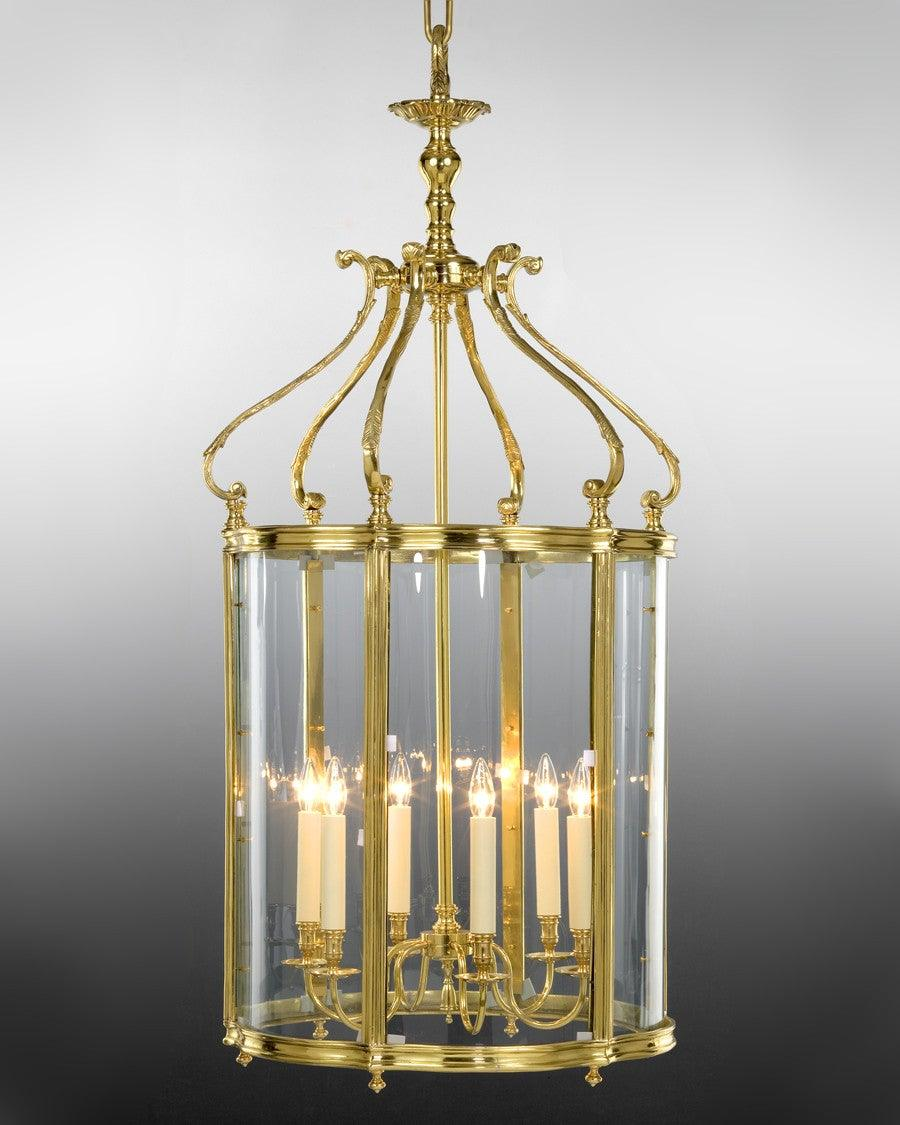 Queen Anne Style Lantern With Serpentine Glass Ll 2