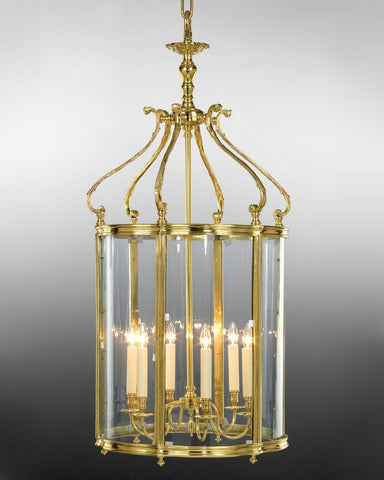 Queen Anne Style Lantern With Serpentine Glass LL-2