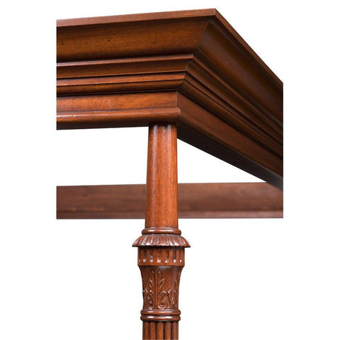 Detail Of Colonial Masters New York Style Carved Bed Post And Testor FBP-27c