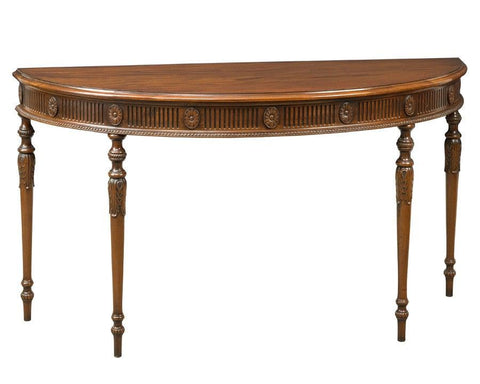 Demilune table with carved fluted apron FOD-7