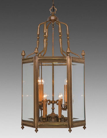 Hexagonal Two Tier Hanging Lantern LL-6B