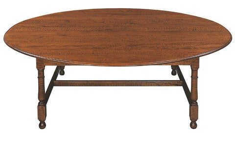 Oval tavern table with optional ogee edge FDTHSC-9