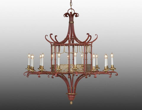 Metal chinoiserie design chandelier LCFI-25