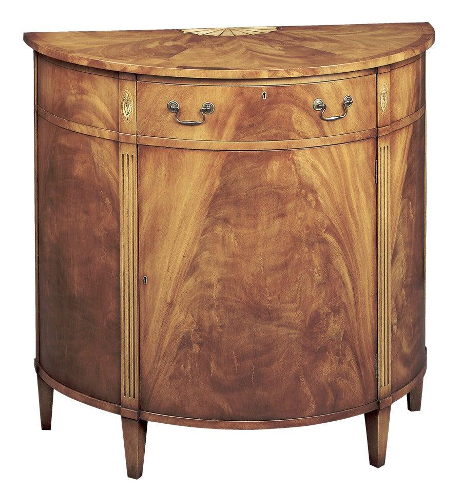 Demilune Cabinet With Fan Inlay FOD 19