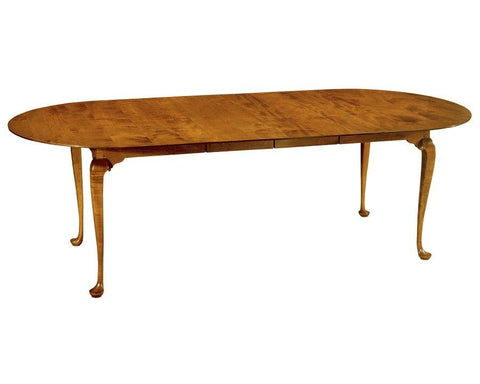 Queen Anne style round end dining table with leaves FDTHSC-1b