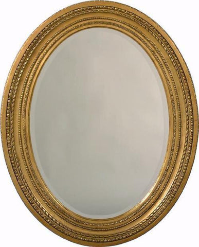 Federal Style Carved and Beaded Beveled Mirror MC-40
