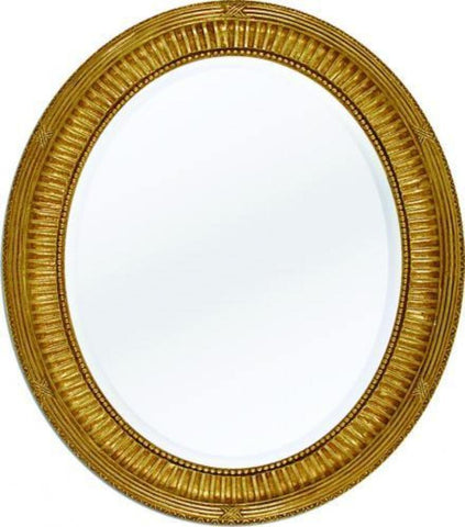 antique oval beveled mirror with rope design