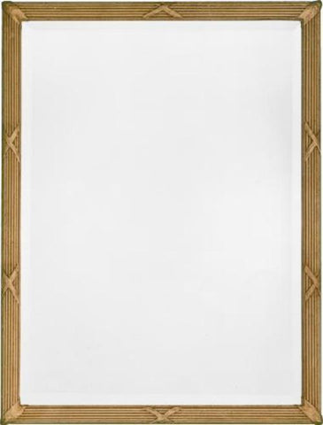 Federal Style Beveled Mirror With Reeded Frame and Cross Banding MF-43