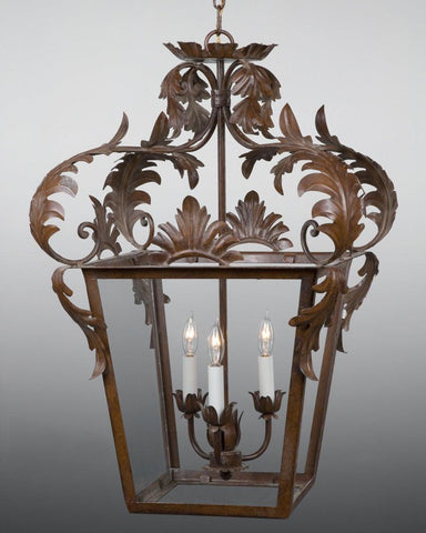 Crowned Leaf Design Lantern LL-27B