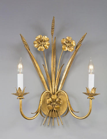 Wheat And Floral Design Sconce LSFI-147