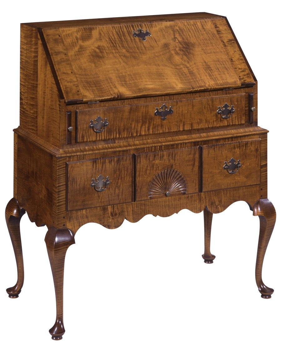 Queen Anne Desk >> Queen Anne Style Slant Front Desk Fds 8a Federalist