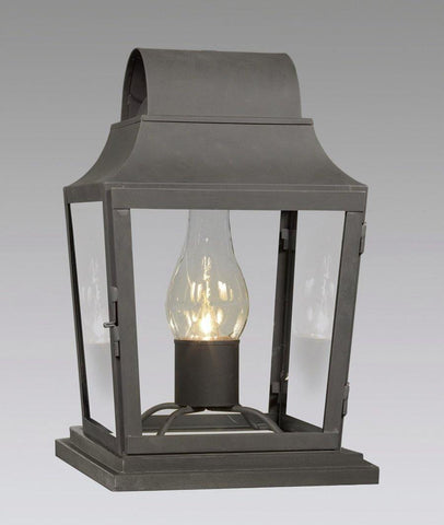 Pier Mounted Round Top Tapered Lantern LECM-4