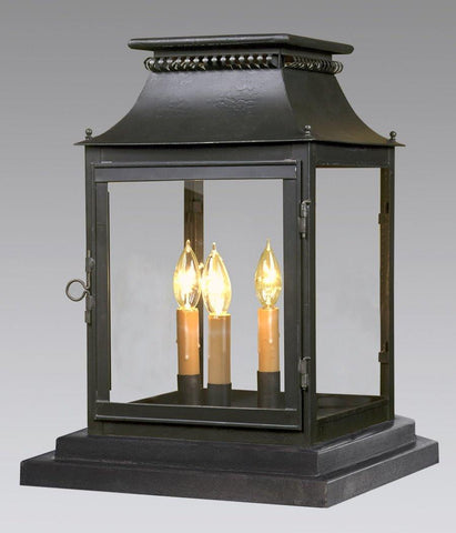 Cut Out Top Design Pier Mount Lantern With Finials LECM-1