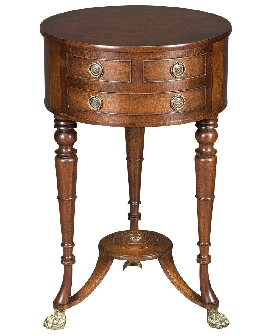 Side Table With Round Top And Drawers Fosts 12 Federalist