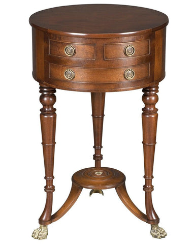 Side table with round top and drawers FOSTS-12