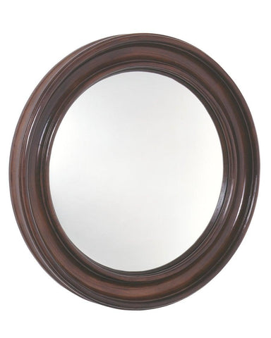 mahogany federal convex mirror