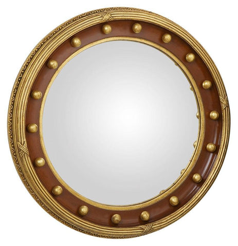 federal convex mirror with half circle and dot