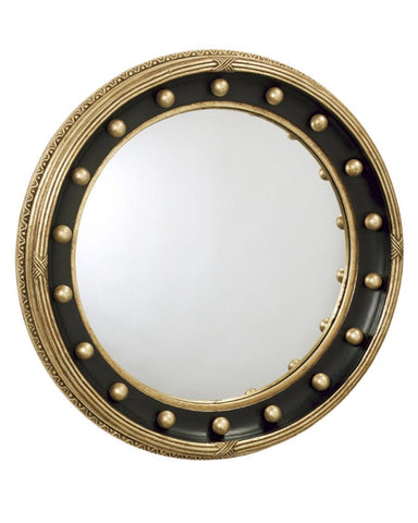 Girandole Convex Mirror With Criss Cross Reeded Edge MC-17A