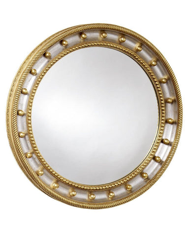 federal convex mirror with interior beaded edge