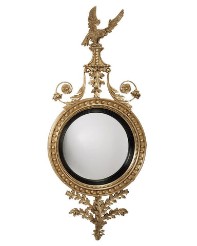 Girandole Convex Mirror With Eagle, And Leaves MC-3