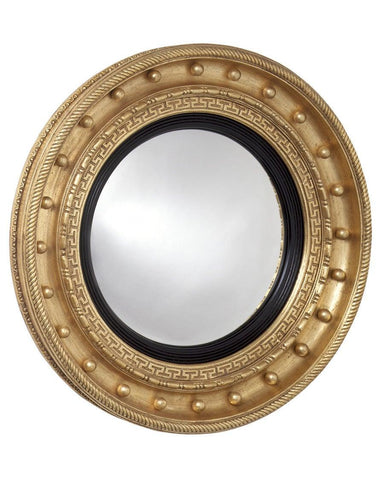 Round Girandole Convex Mirror With Greek Key Design MC-15