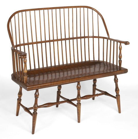 Reproduction Windsor Chairs. Sack back settee with carved knuckle arms FSW-3  sc 1 st  Federalist & Reproduction Windsor Chairs | The Federalist