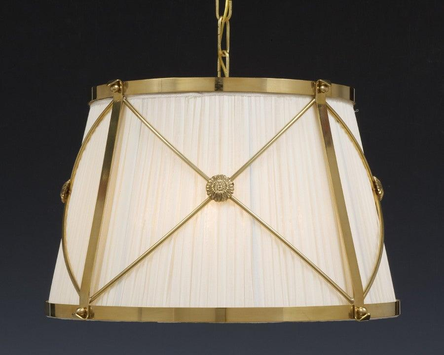 Reproduction chandeliers federal style chandeliers the federalist brass and fabric shade x design four light chandelier lcfi 21a aloadofball Image collections