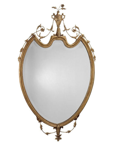 antique adam style beveled mirror