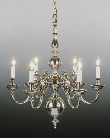 Cast Brass Chippendale Style Six Light Chandelier LCFI-4B