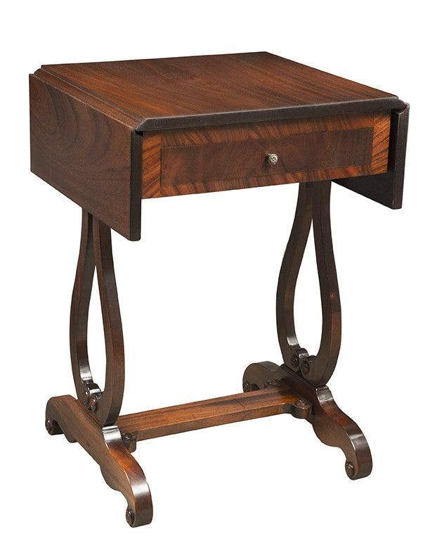 Exceptional Duncan Phyfe Style Drop Leaf Side Table FOSTS 70