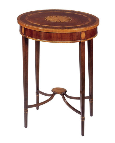Oval inlaid side table FOSTS-19