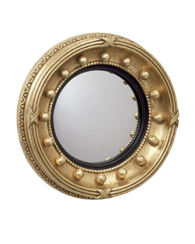 federal convex mirror with interior beaded frame