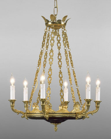 Cast brass and metal chandelier LCFI-12a