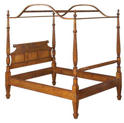 Colonial Masters Sheraton Style Field Bed With Optional Reeded Headposts FBBE-40