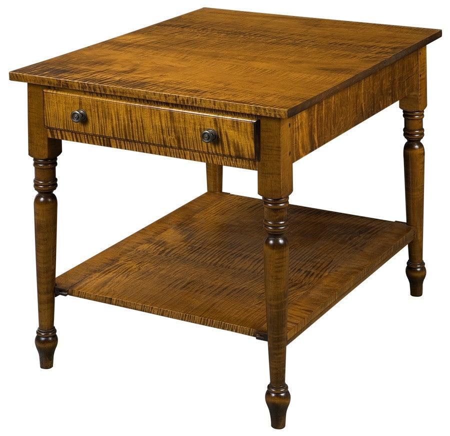 Side Table With One Drawer And Bottom Shelf Federalist