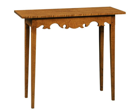 Console table with shaped apron FOC-15