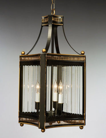 Curved Square And Pierced Design Tole Lantern LL-106