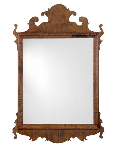 beveled antique chippendale mirror