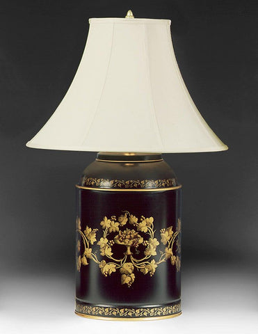 Tole Canister Floral Design Table Lamp LTF-19