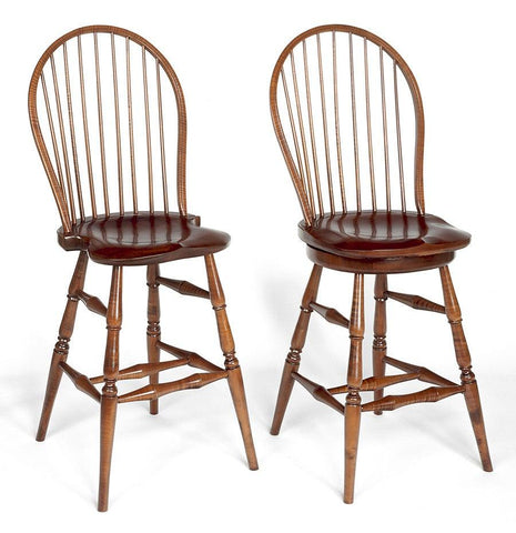 Bow Back Tavern Chair With Swivel Seat (pictured to the right) FSW-17