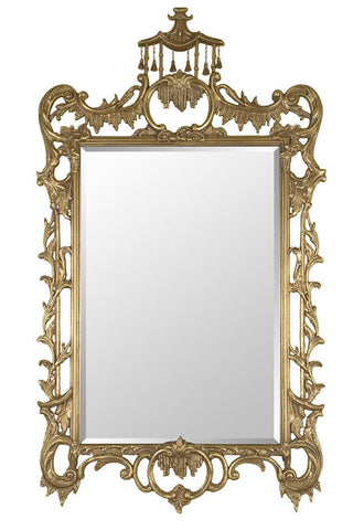 Chippendale Chinoisere Style Beveled Mirror MF-5