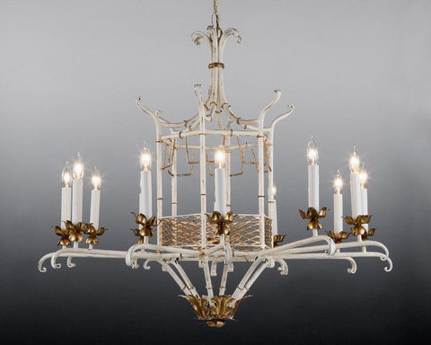 Metal chinoiserie design chandelier LCFI-26