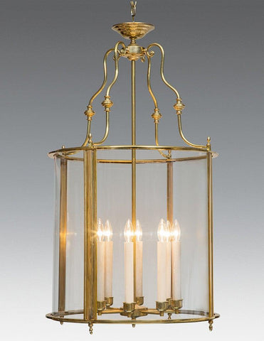 Brass And Glass English Style Round Lantern LL-98