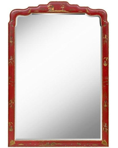beveled chinese chippendale mirror