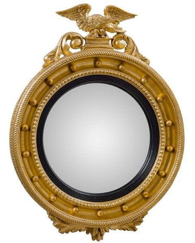 Regency Girandole Convex Mirrors With Eagle And Decorations MC-9