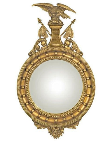 federal eagle convex mirror with flag