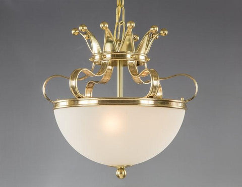 Frosted Glass Crown Style Chandelier LCFI-91